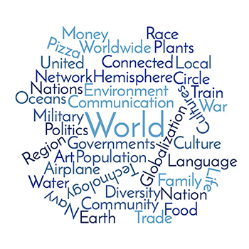 World Earth Network Community Culture Communication Technology Cultures United Nations Nation Oceans Food Language Pizza Worldwide Plants Money Politics Circle Trade Train Globalization Airplane Navy Military War Governments Population Family Life Environment Water Diversity Art Connected Local Region Hemisphere Race