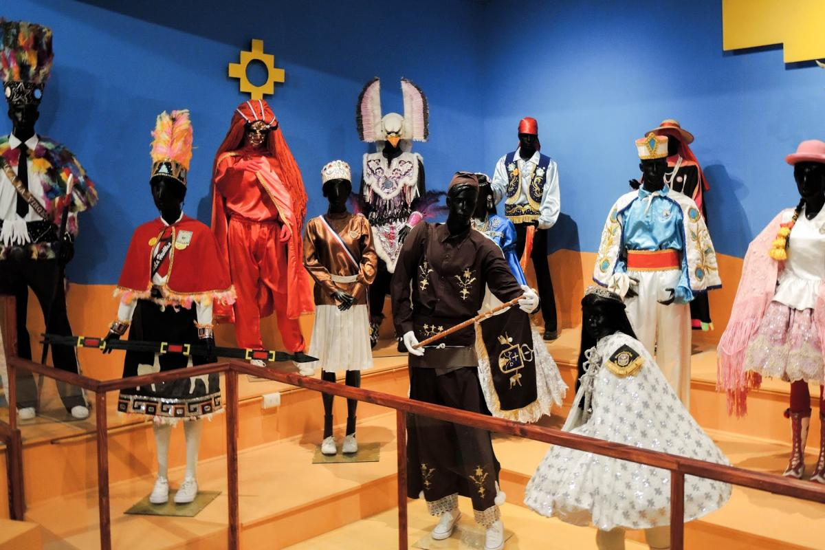 Some traditional trajes on display in La Tirana.