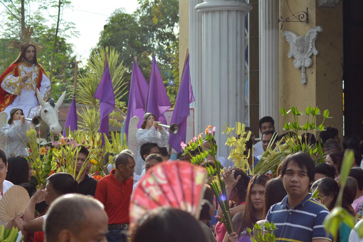 Palm Sunday at Santa Isabel, Bulacan