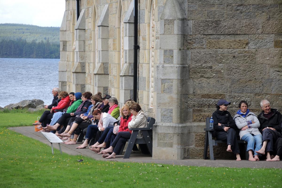 Barefoot pilgrims hold 24-hour vigil, three-day fast at Lough Derg