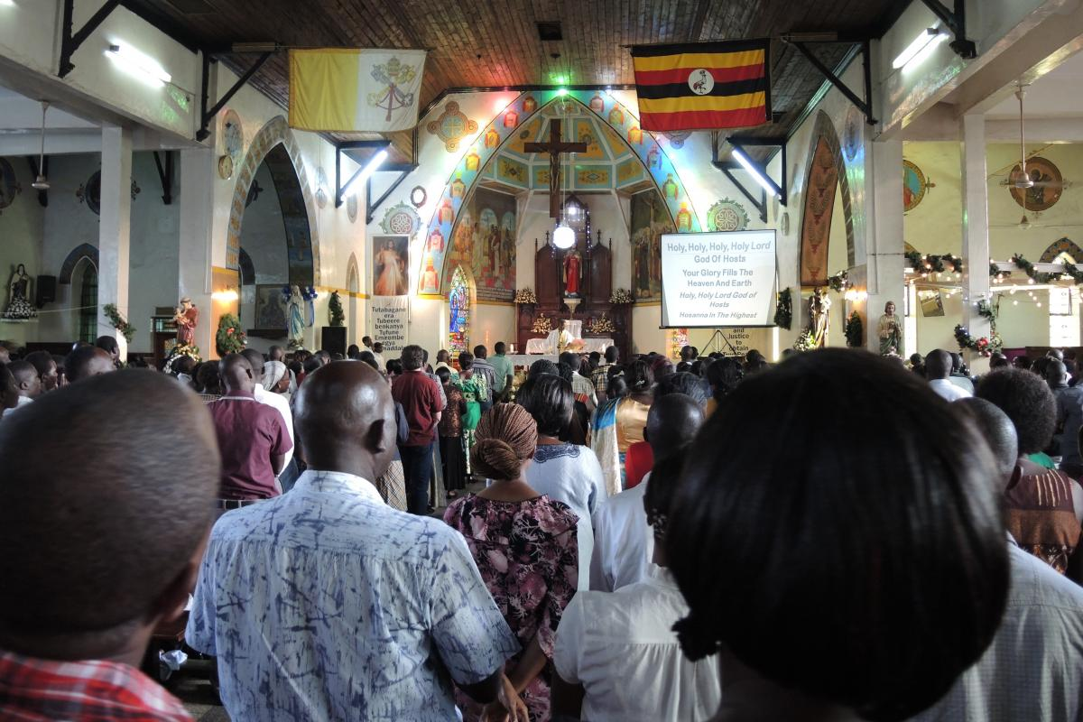 ugandan worship melds european and african characteristics