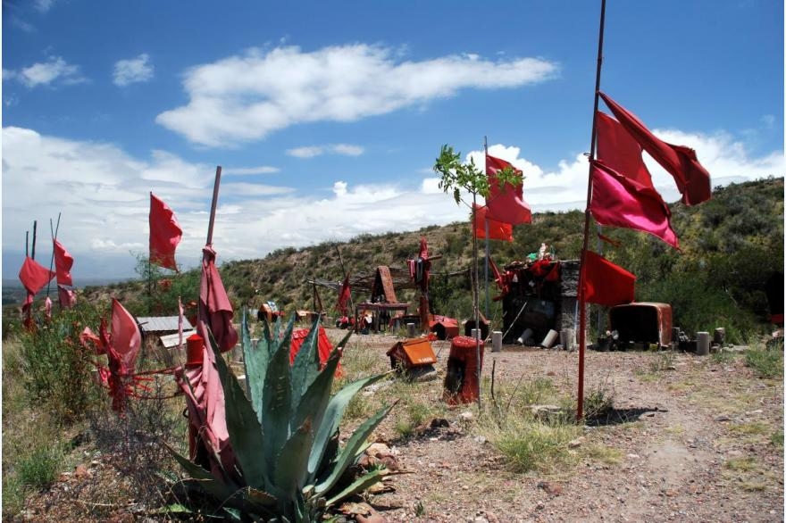 Memorial of the Gauchito Gill, on the road between Mendoza and Uspallata, Argentina