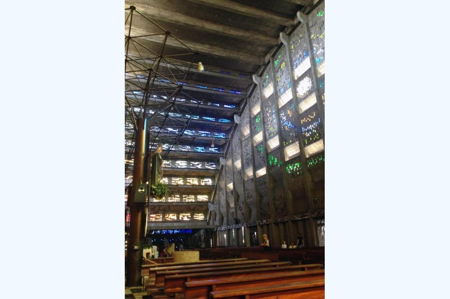 Interior of Rosary Church, San Salvador, El Salvador