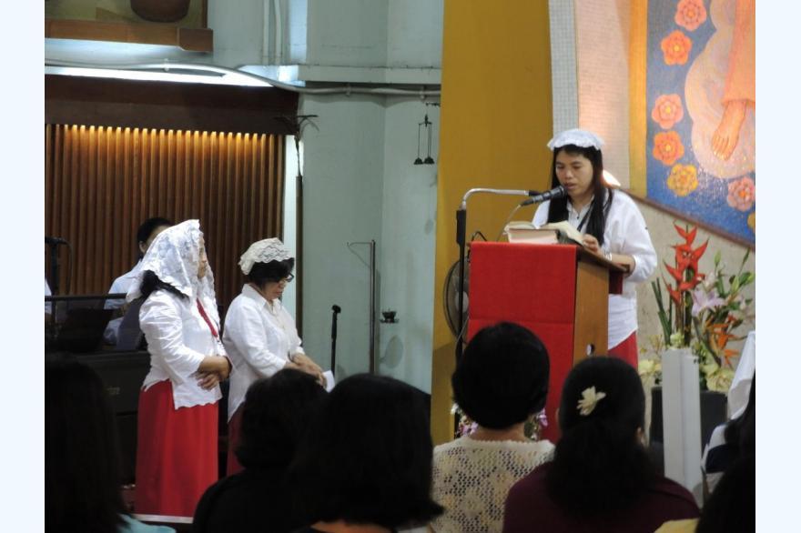 El Shaddai members at St. Joseph's Church