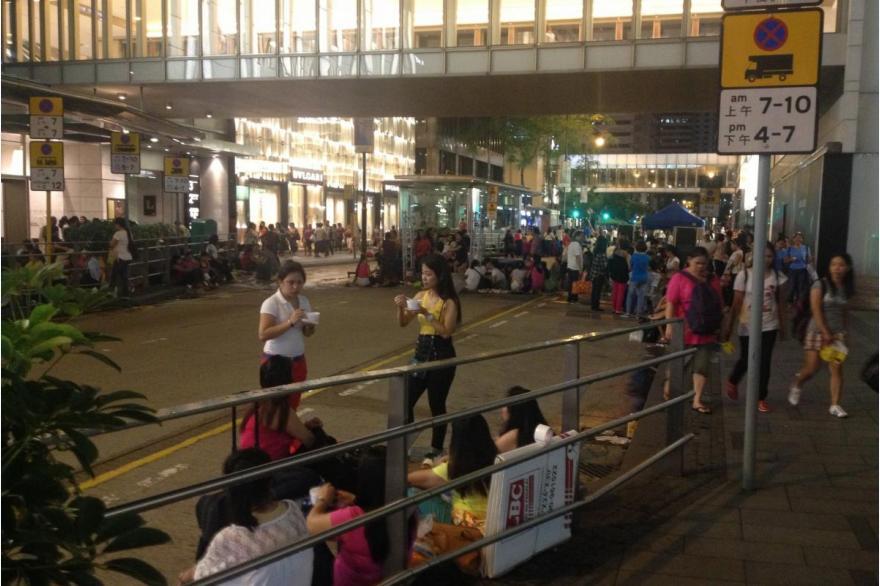 Filipina migrants in Hong Kong