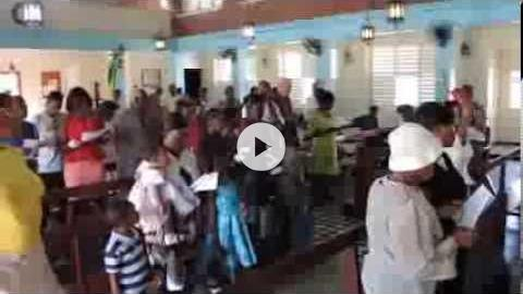 Mass at St. Anne's Church, West Kingston, Jamaica