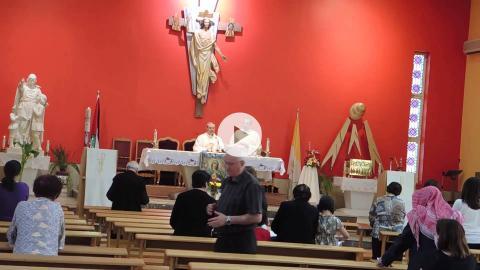 Excerpts of a Latin rite liturgy at De La Salle Church, Amman, Jordan