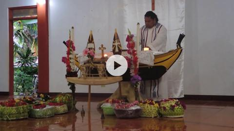 Holy Thursday Mass for Outer Islanders living in Yap, Micronesia