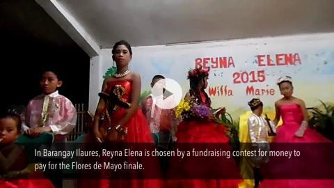 Santacruzan, the Flores de Mayo finale, Bugasong, Philippines
