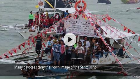 Feast of Santo Niño Fluvial Parade and Procession to Basilica, Cebu, Philippines