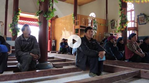 Easter at the village church in Niuren, Yunnan Province, China