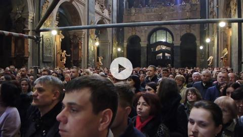 Midnight Easter Liturgy, Lviv, Ukraine