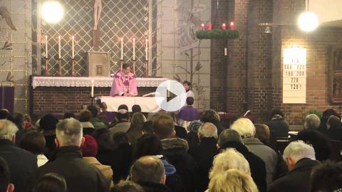 Highlights of a family liturgy at St. Martin Church, Berlin, Germany