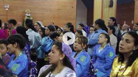Mass for bailes' leaders at La Tirana, Chile