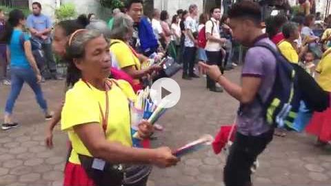 Tig sinulog, dancing and praying to Santo Niño, Cebu, Philippines