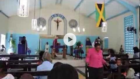 Mass at Holy Name of Jesus Church, Kingston, Jamaica
