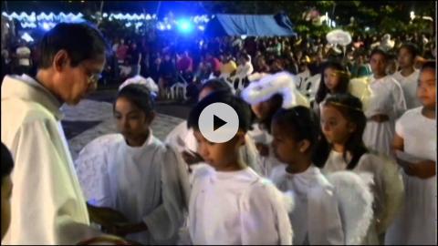 Christmas Eve at Santa Rita Parish, Pampanga, Philippines