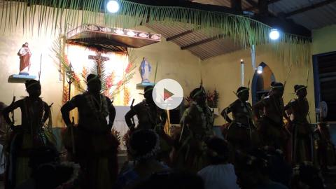 Dance of Thanksgiving at Easter Vigil, Yap, Micronesia