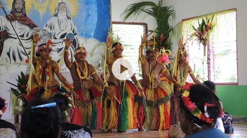 Easter Sunday Mass and Dance of Thanksgiving, Yap, Micronesia