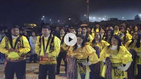 Praying, dancing and singing all night for the Virgen del Carmen